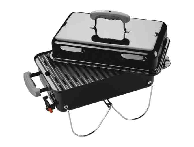 Camping Gift Set ~ Weber Go Anywhere Gas Grill, Tools, Set of 2 Backpack Chairs, Food Tent - Photo 2