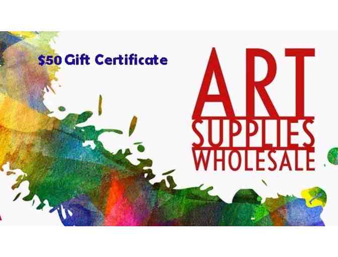 $50 Art Supplies Wholesale Gift Certificate