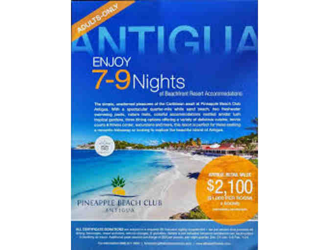 2 Rooms for 7 - 9 Nights at Pineapple Beach Club in Antigua