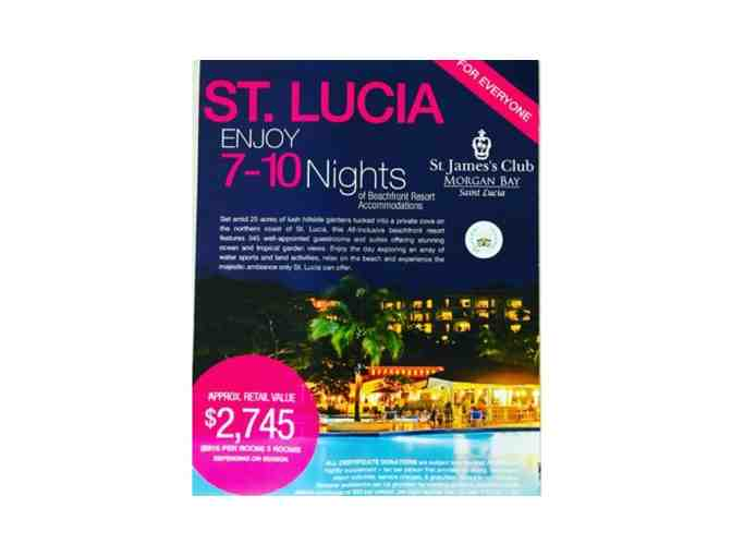 7 - 10 Nights at St Jame;s Club Morgan Bay, St Lucia - 3 Rooms Double Occupancy