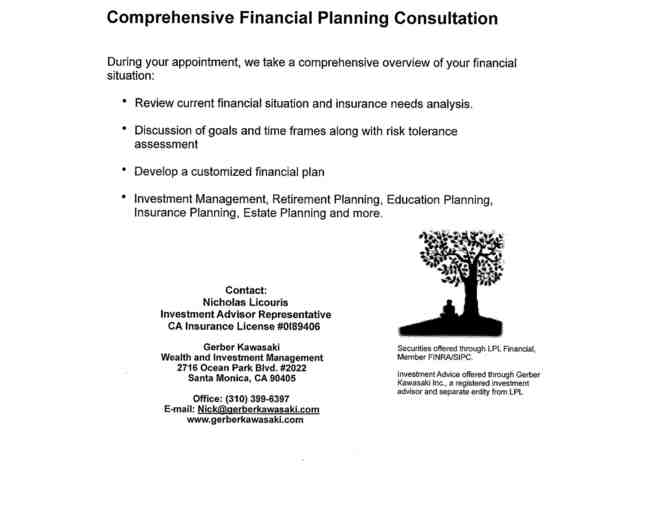 Customized Financial Plan