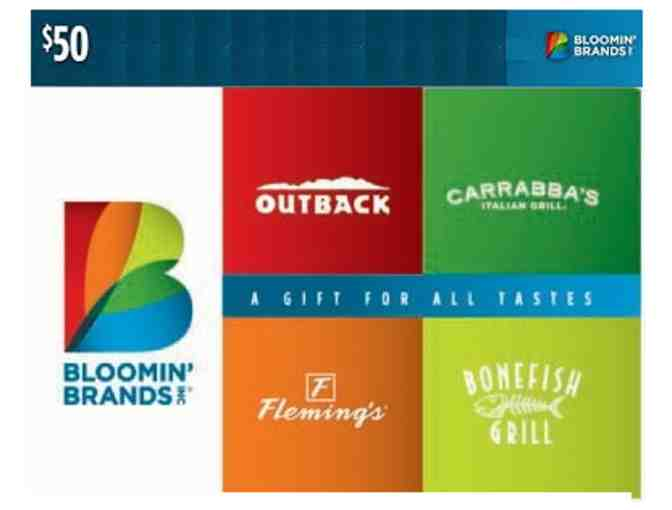 Bloomin' Brands $50 Gift Card - Photo 1
