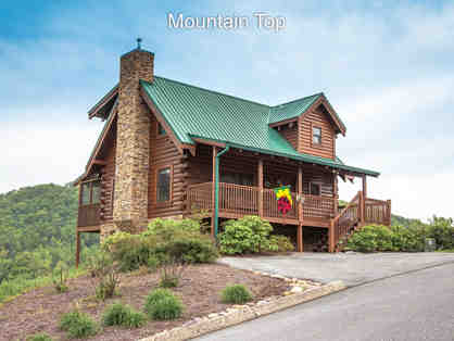 Two-night mountain-top cabin rental in Pigeon Forge