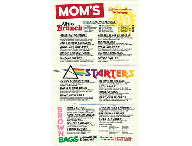 Moms Kitchen and Bar - $50 Gift Certificate