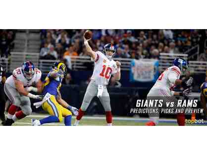 Giants home game at Met Life stadium - 2 Tickets NY Giants vs LA Rams