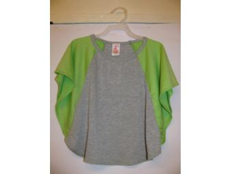 Girls Green & Gray Jersey Top - Size 2T