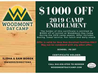 $1000 off Woodmont 2019 Summer Camp Tuition