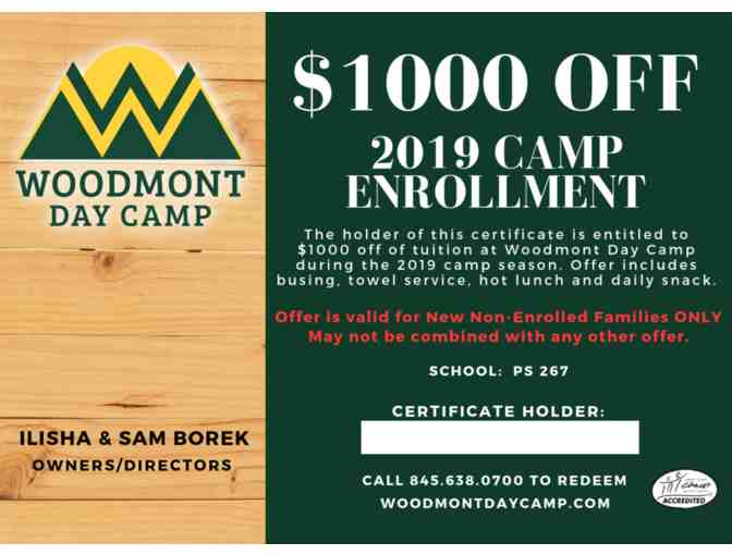 $1000 off Woodmont 2019 Summer Camp Tuition - Photo 1
