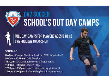DV7 Soccer - One  spot in School's Out Full-Day Camp on June 9, 2020