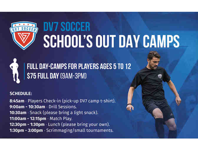DV7 Soccer - One  spot in School's Out Full-Day Camp on June 9, 2020 - Photo 1