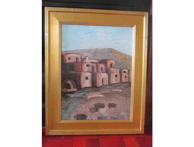 'Taos Pueblo' an Oil Painting by Jerry Mann