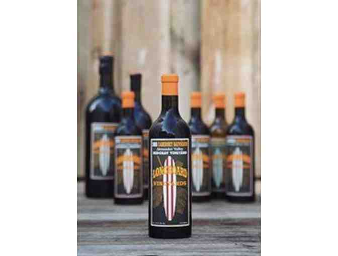 A Longboard Winery Tasting for 4, a bottle of 2007 Mavericks Cabernet Sauvignon, & Apparel