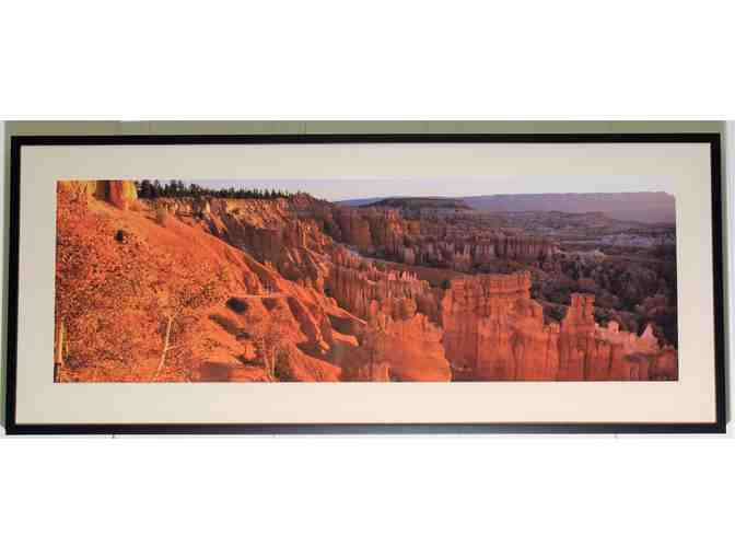 framed art photo (55.5' x 23.5') 'Hoodo Spirits, Bryce Canyon' by Wyn Hoag