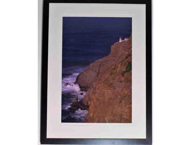 framed art photo #(41.25' x 30.75')  'Pt. Reyes Lighthouse' by Wyn Hoag
