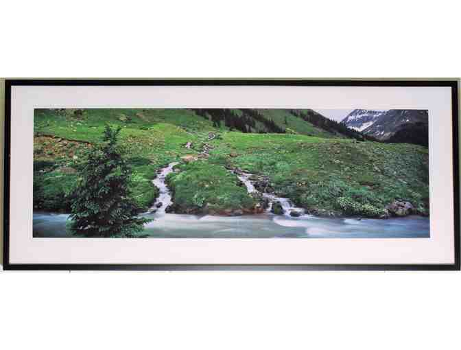 framed art photo   (55.5' x 23.5') 'Headwaters in Colorado' by Wyn Hoag