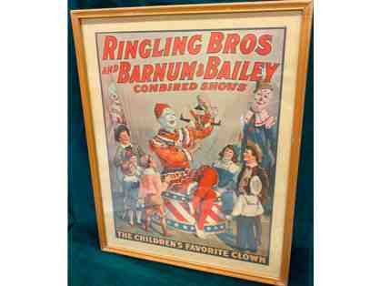 Vintage Barnum and Bailey Clown Poster