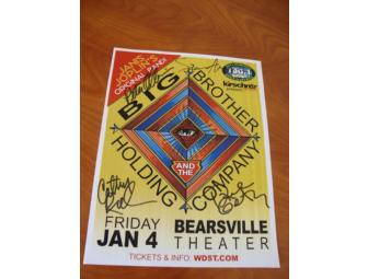 Big Brother & The Holding Co. (Janis Joplin) AUTOGRAPHED Poster
