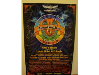 AUTOGRAPHED Mountain Jam 2010 Poster