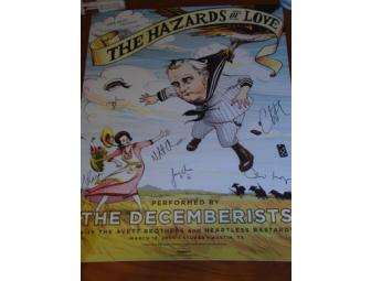 The Decemberists - Autographed  'The Hazards of Love' Poster