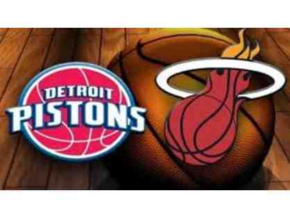 2 Miami Heat Tickets-Heat vs. Pistons 3/13/19