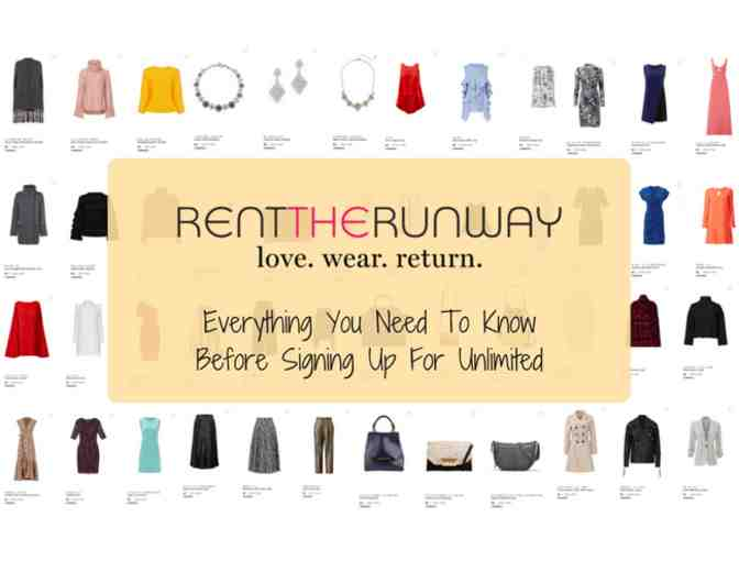 1 Month of Unlimited to Rent the Runway