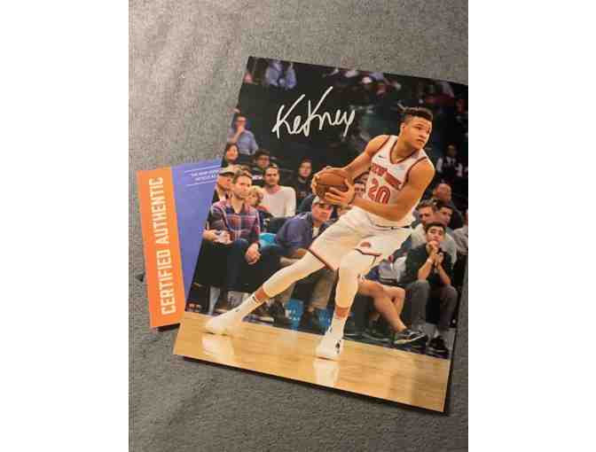 Framed Autographed Kevin Knox Picture w/  Certificate of Authenticity