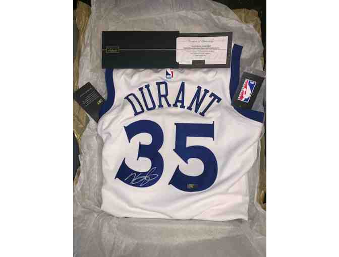 Kevin Durant Signed Jersey + Sneakers in Display Cases w/ Certificate of Authenticity