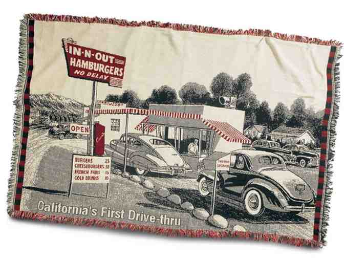 (1) 67' x 48' Vintage-Style In-N-Out Burger Woven Blanket