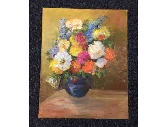 Original Impressionist Floral Oil Painting by Maria Ossa