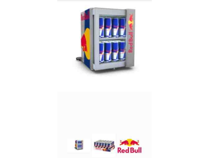 Red Bull Mini Bar Fridge with 12 Cases of Red Bull
