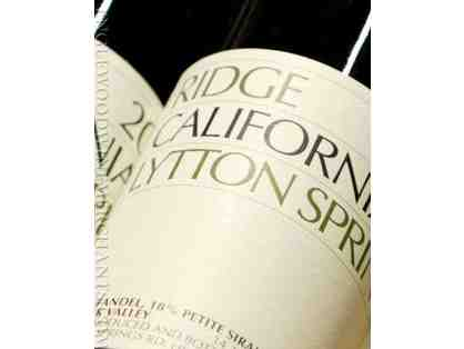 2017 Ridge Vineyards Lytton Springs 1.5L 94pts + Tasting for 4