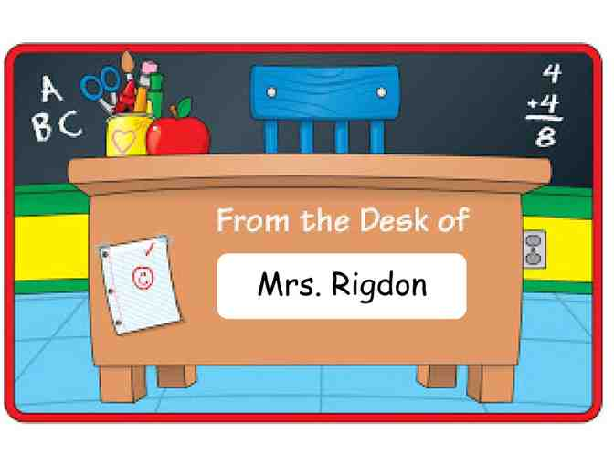 Mrs. Rigdon's Desk for the Day! (4th Grade)
