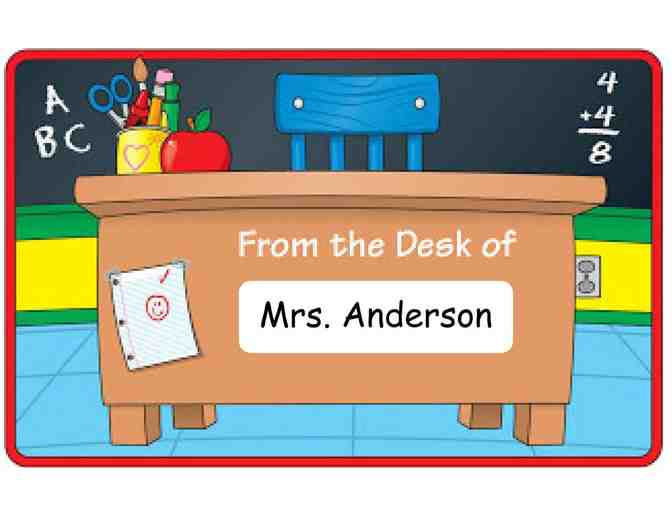 Mrs. Anderson's Desk for the Day! (1st Grade)