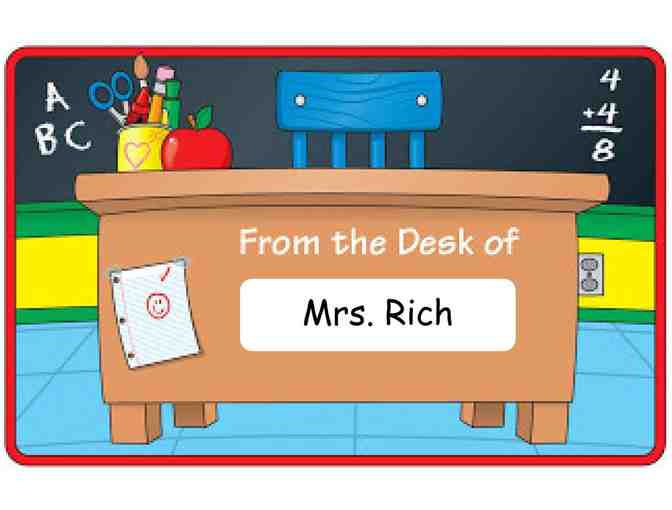 Mrs. Rich's Desk for the Day! (1st Grade)