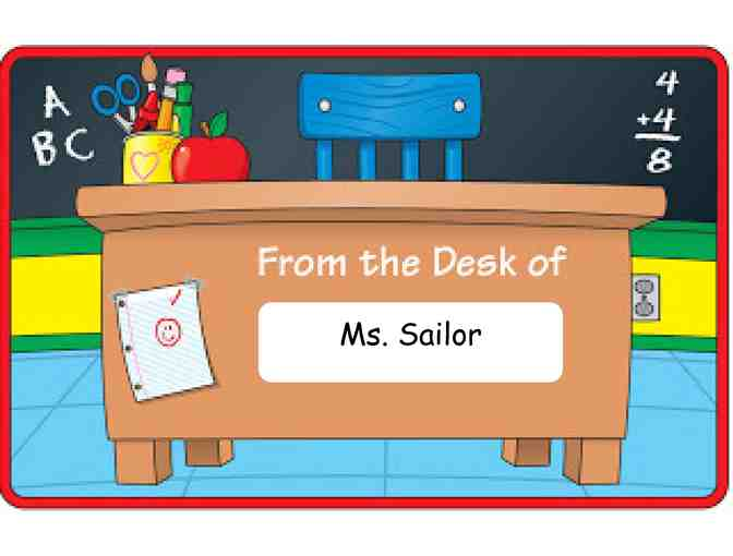 Ms. Sailor's Desk for the Day! (2nd Grade)