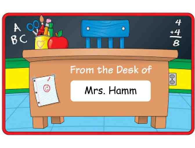 Mrs. Hamm's Desk for the Day! (2nd Grade)