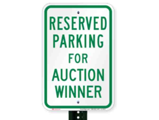 Reserved Front Circle Parking Spot for Winter Party!  (12/21/2018)
