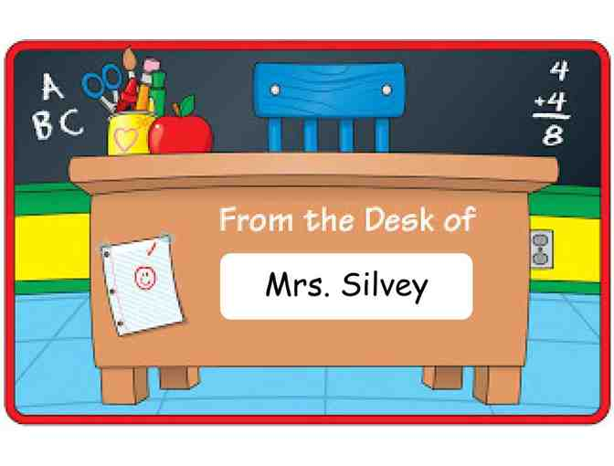 Mrs. Silvey's Desk for the Day! (K)