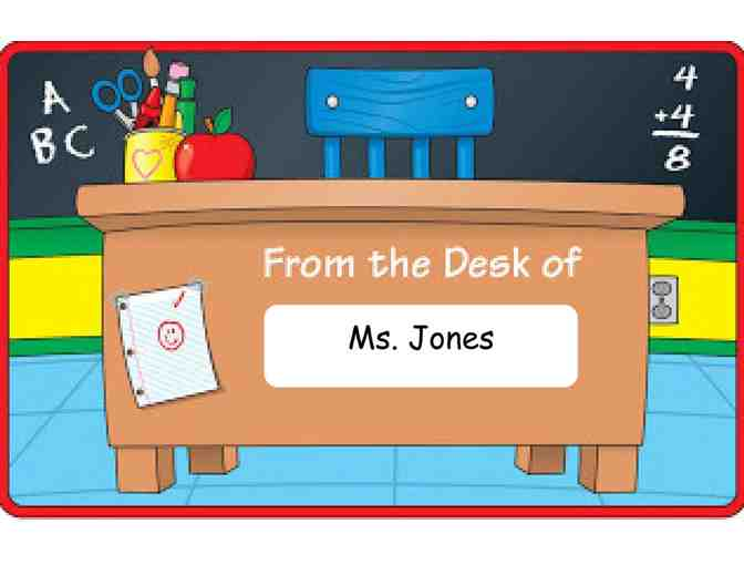 Ms. Jones's Desk for the Day! (4th Grade)
