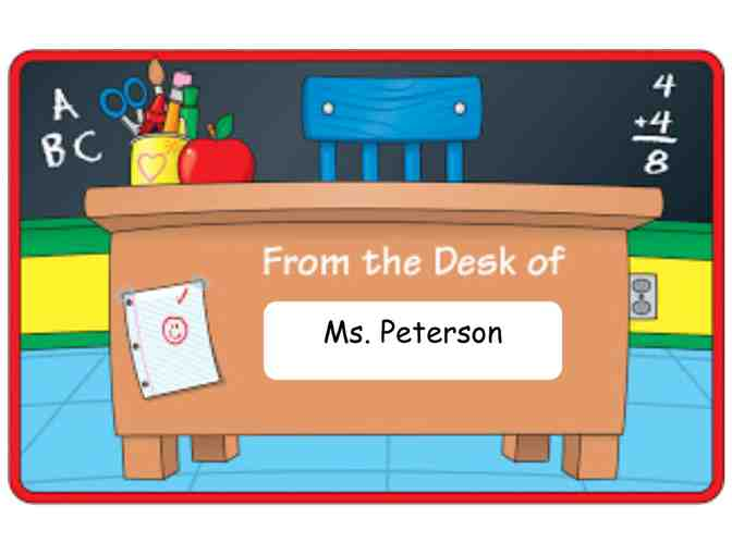 Ms. Peterson's Desk for the Day! (3rd Grade)