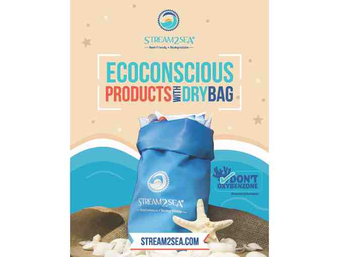 Stream2Sea Dry Bag with EcoConscious Body Care and Sunscreens