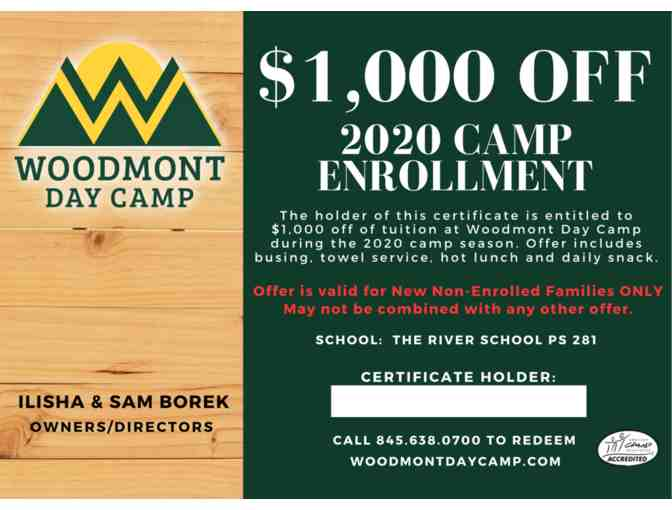 $1,000 off 2020 Summer Camp Tuition - Photo 1