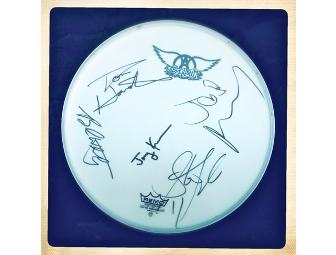 AEROSMITH - Drum Head Signed by All Band Members! - Photo 1