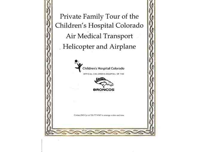 Flight for Life - Children's Hospital Colorado - Private Family Tour - Photo 1