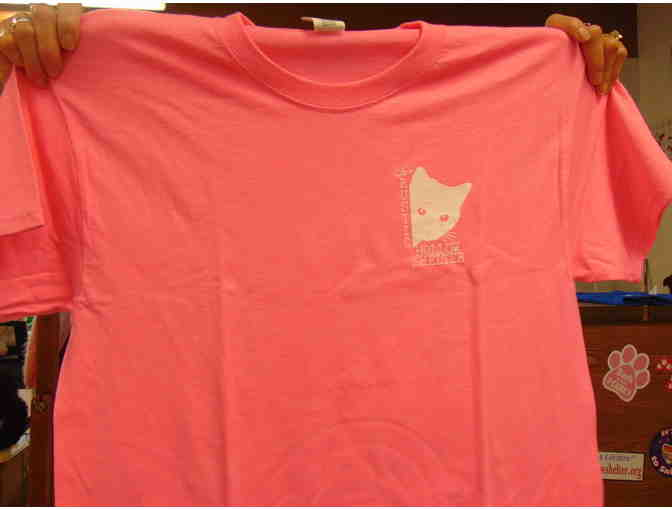 Bright Pink New Logo Rustic Hollow T-shirt LARGE - Photo 1