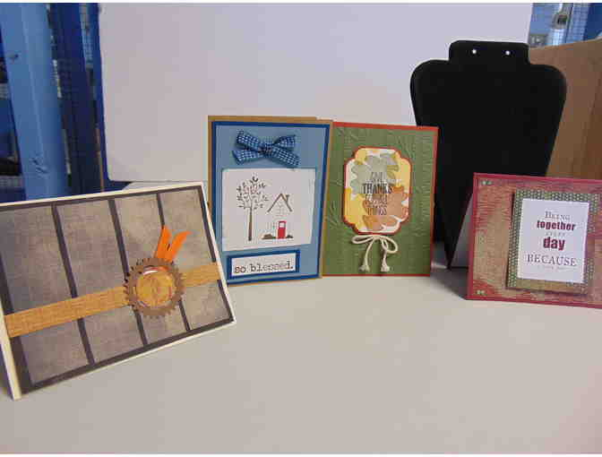 4 Handcrafted Note Cards w/Envelopes - Photo 1