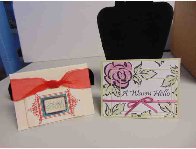 2 Handcrafted Note Cards w/Envelopes - Photo 1