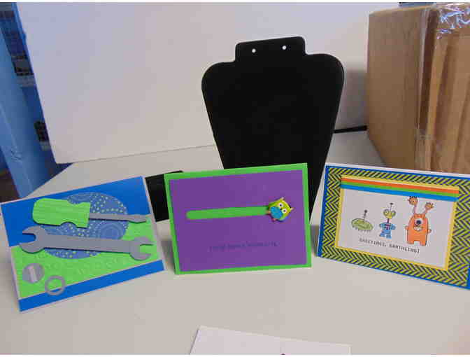 3 Handcrafted Note Cards w/Envelopes - Photo 1