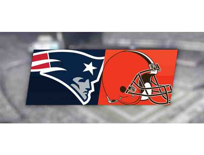 4 Tickets: New England Patriots vs. Cleveland Browns w/ VIP Pre-Game Tailgate Party - Photo 1