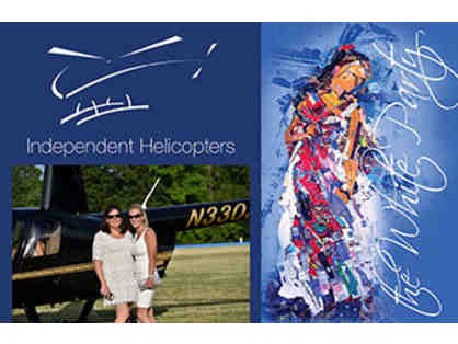 2 Tickets to The White Party with helicopter tour and arrival to event